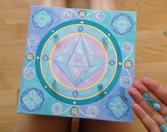 Magic Ice crystal. Acrylic, canvas