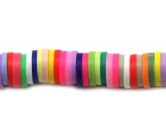 Katsuki clay beads, clay ceramic 6 mm color mix, katsuki beads, blue, red, purple, black, grey, light colors katsuki, bracelet bead