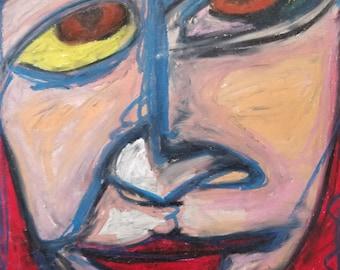 intense eyes original painting