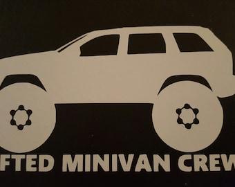 Lifted Minivan Crew Sticker - WK