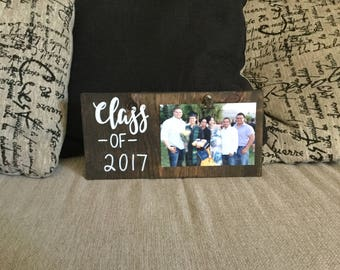 Graduation Photo Wood Block, Class of 2017, Graduate Gift