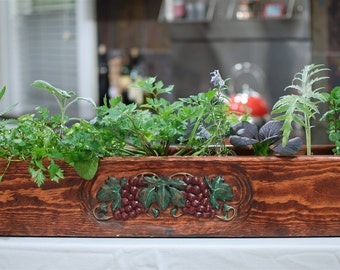 Grape Garden Limited Edition Multi-use Collectible Wood Box