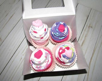 Onesie Cupcake Gift Set | Onesie Cupcakes | Washcloth Cupcakes | Unique Baby Shower Gift | Diaper Cake Gift Ideas | Onesie Gift