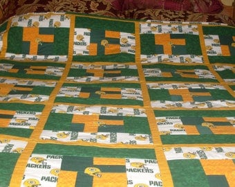 Packers quilt | Etsy : green bay packers quilt - Adamdwight.com