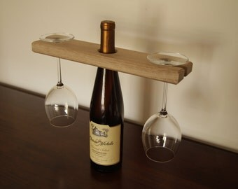 Solid White Oak Wine Glass Holder-Handcrafted by Lincoln Ebanista