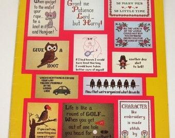 Bee Attitudes Cross Stitch Booklet