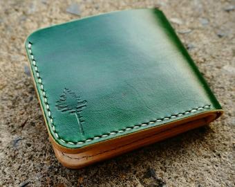 Wallet,Handmade Leather Bifold Wallet