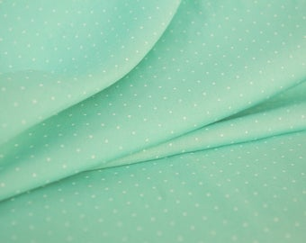 Aqua White Dot Viscose