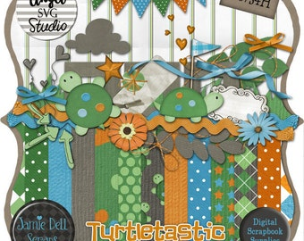 Turtletastic Digital Scrapbook Kit