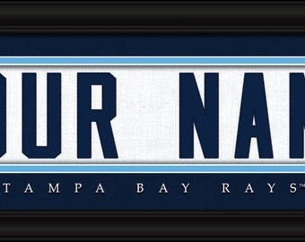 Tampa Bay Rays Jersey Stitch Personalized Print - FRAMED - MLB