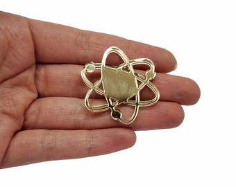 Atom big bang jewellery supplies x5, Atoms bijoux, Atom pendant, Atom charms, Atom necklaces, Atom lasercut wood plexiglas - SET 5 pz