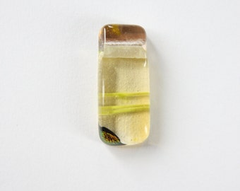 Transparent Browns Dichroic Fused Glass Pendant
