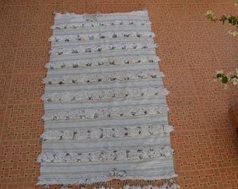 Moroccan wedding blanket,Handmade blanket;Berber handira blanket MH 026  184 cm * 104  cm / 72.5 inch x 41 inch