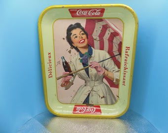 FRENCH Coca Cola Serving Tray - Use this coupon code at checkout for 25% off:  NICKZ6151C