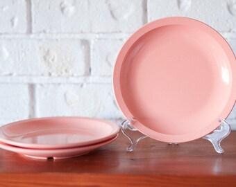 Vintage Pink Melbac Sideplate Saucers