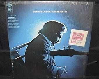 "Johnny Cash at San Quentin 12"" Record 1969"