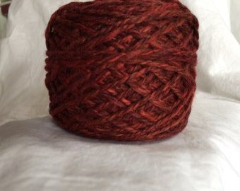 Hand Spun 100% Merino, Mojave Sunset Red, 119 yards. Free Shipping!