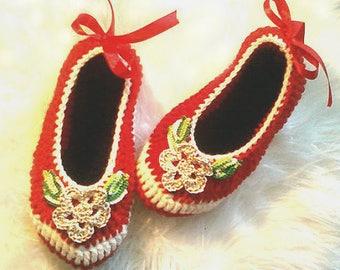 Women slippers, crochet slippers, gift for women, spring gift, gift for her, women gift, birthday gift, slippers