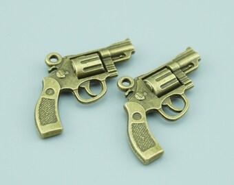 20pcs 18x30mm Antique Bronze Gun Charm Pendants,Weapon Charm Pendants ZLJ023