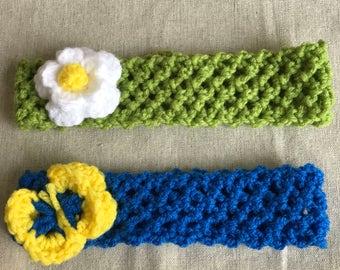 Crocheted Spring Headband 2 pack