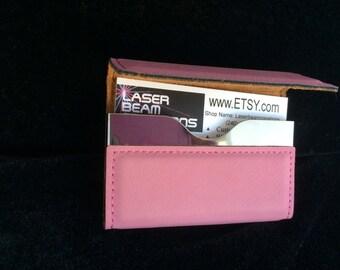 Pink Hard Card Case