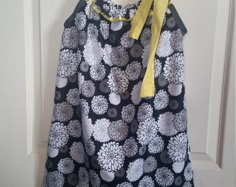 Flower Dress with Yellow Detail