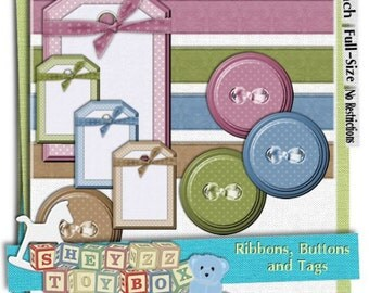 Ribbons, Buttons, and Tags by sheyzz toybox