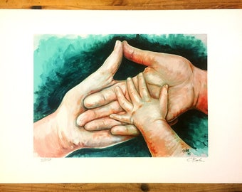 "From a painting Titled ""Support""- limited edition print"