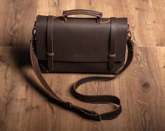 """Leather bag Messenger """"Old America Brown"""" HANDMADE, A4 bag, Briefcase Laptop, Business Bag, Travel Bag for Men, Vintage,"""