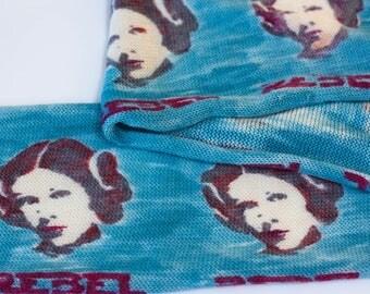 Rebel Rebel - hand painted sock blank - Leia