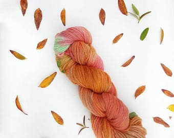 Playing in the leaves - Aran - Hand Dyed 100% Wool