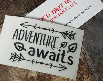 Adventure Awaits Decal for Laptops, Windows, Mirrors, Frames, Signs
