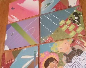 Colorful Handmade Spring Envelopes