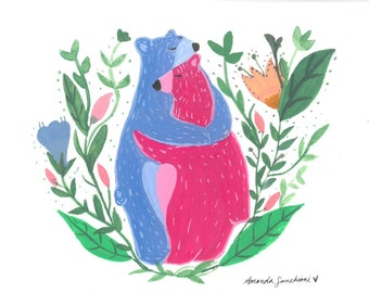 Bear and Little Postcard