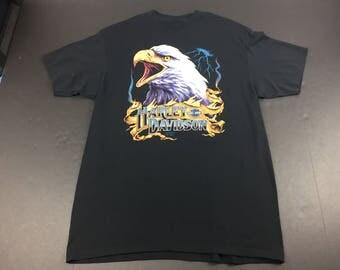 Vintage 1990 3D emblem eagle harley davidson motorcycles t-shirt mens xl biker
