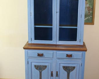 edwardian glass fronted cabinet