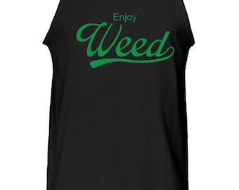 Enjoy Weed Graphic Tank Top