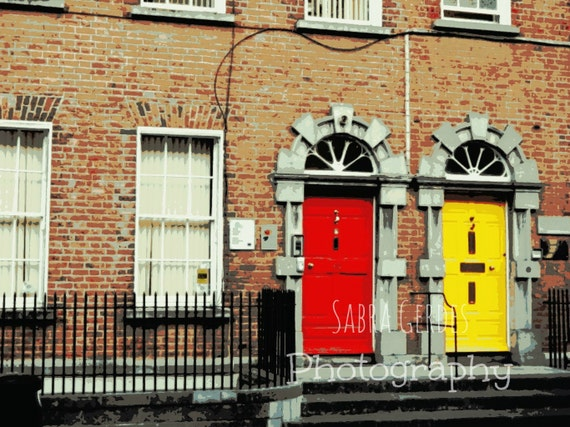 Like this item? & Colorful Irish Twins Ireland Irish door Painted doors Red pezcame.com