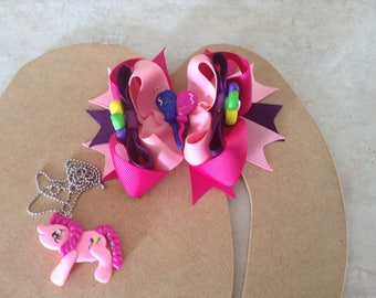 My Little Pony Necklace And Bow