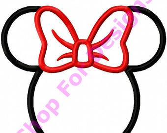 Minnie Mouse Applique Design