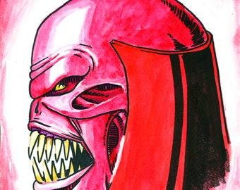 Green Lantern Atrocitus original art print