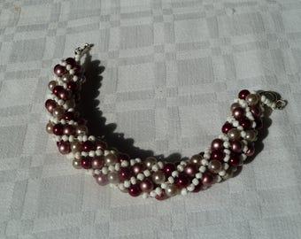 Red mix Russian Spiral bracelet