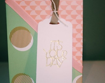 It's Your Day Gold Birthday Card