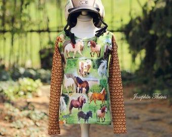 Shirt long sleeve shirt long sleeve horse pony riding girl horse pony girl Reitjacke Jodhpurs riding lesson riding lesson Shetland pony Icelanders