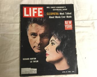 Life Magazine from 1963 Featuring Elizabeth Taylor and Richard Burton. Nice Vintage Advertising too!
