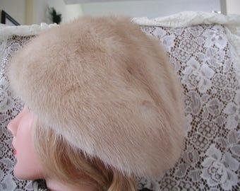 Blonde Mink Hat...Vintage Blonde Mink Hat