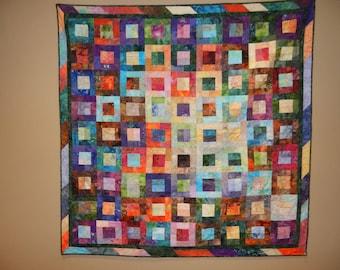 Batik Squared Quilt
