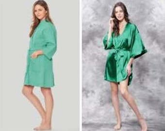 Personalized Waffle & Satin Robes