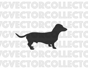 Daschund Weiner Dog, SVG EPS Png DFX, Clip Art, Instant Digital Download