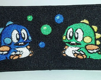 Bubble bobble embroidered patch